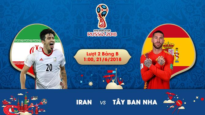Tin soi kèo trận đấu đầu Iran vs Tây Ban Nha, 1h00 ngày 21/06 2