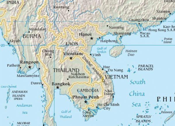 bản đồ châu á - các nước đông nam á