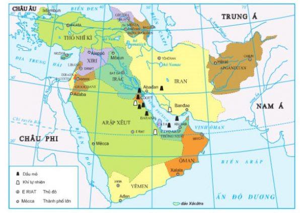 bản đồ các nước châu á thái bình dương