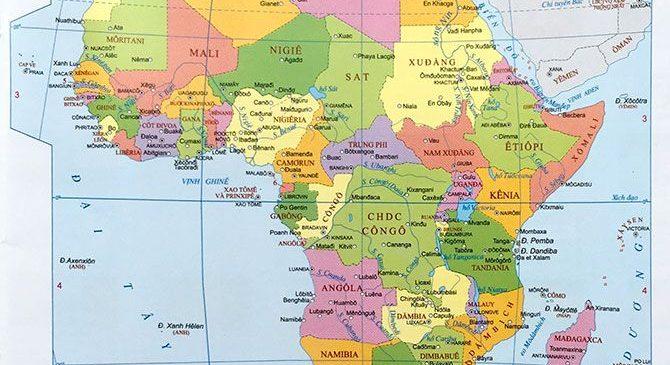 bản đồ các nước châu Phi