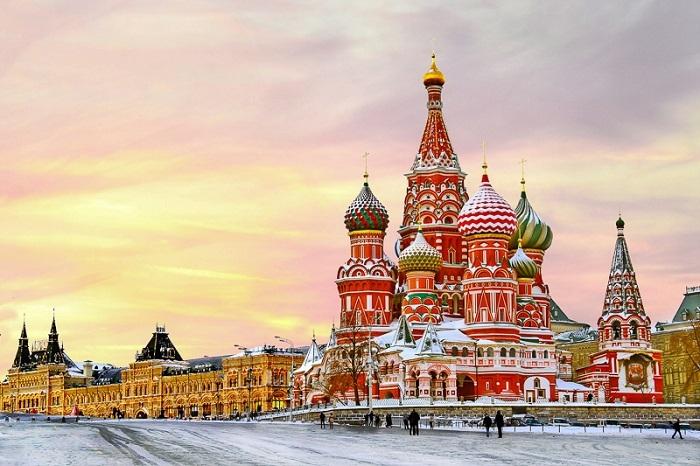 Cung điện Kremlin - Matxcơva là một trong những cảnh đẹp nước Nga