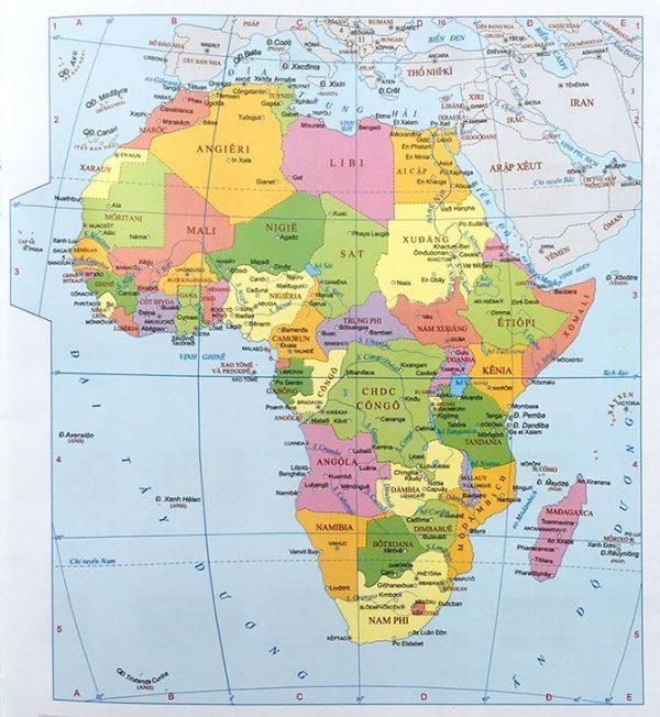 Khái quát về tự nhiên và bản đồ các nước châu Phi